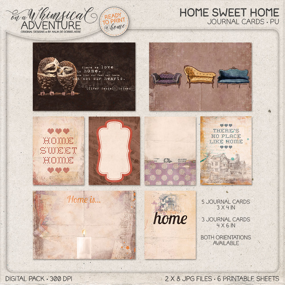 Home Sweet Home Journal Cards by On A Whimsical Adventure