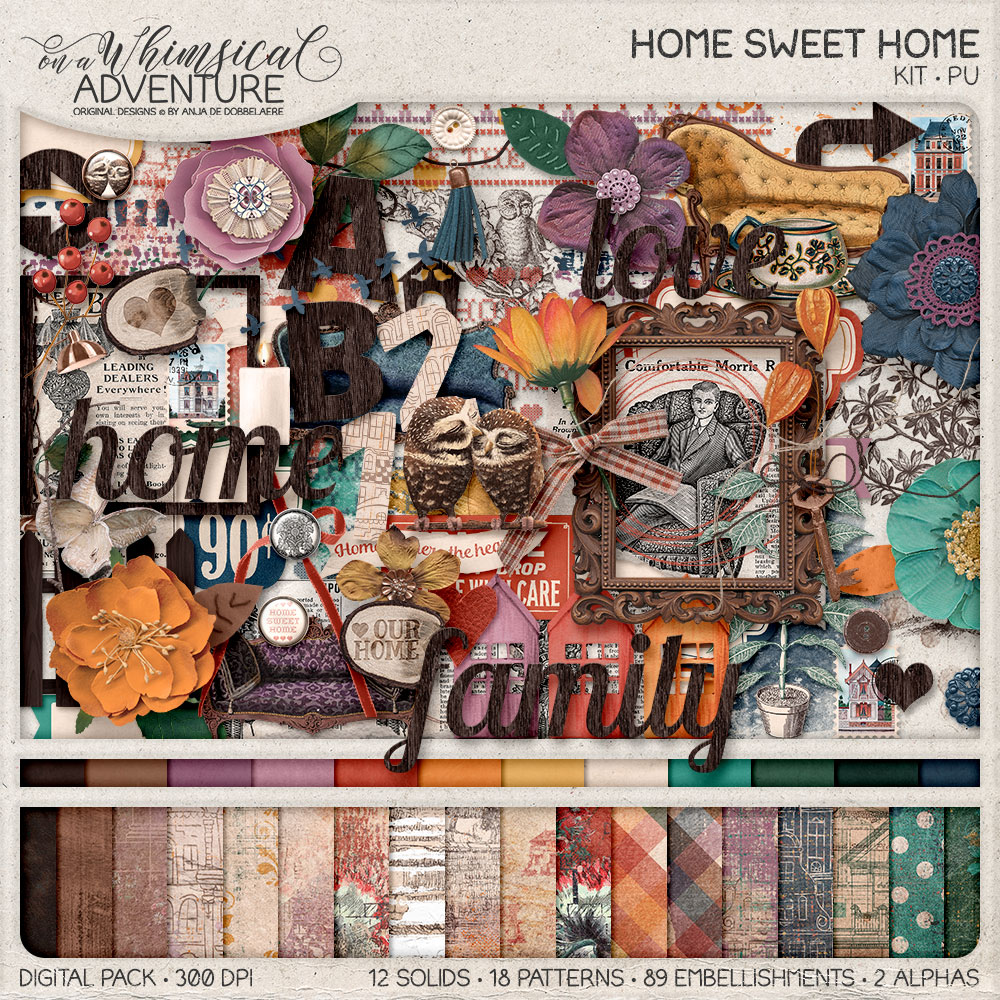 Home Sweet Home Kit by On A Whimsical Adventure