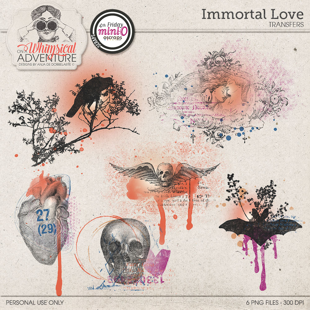 Immortal Love Transfers by On A Whimsical Adventure