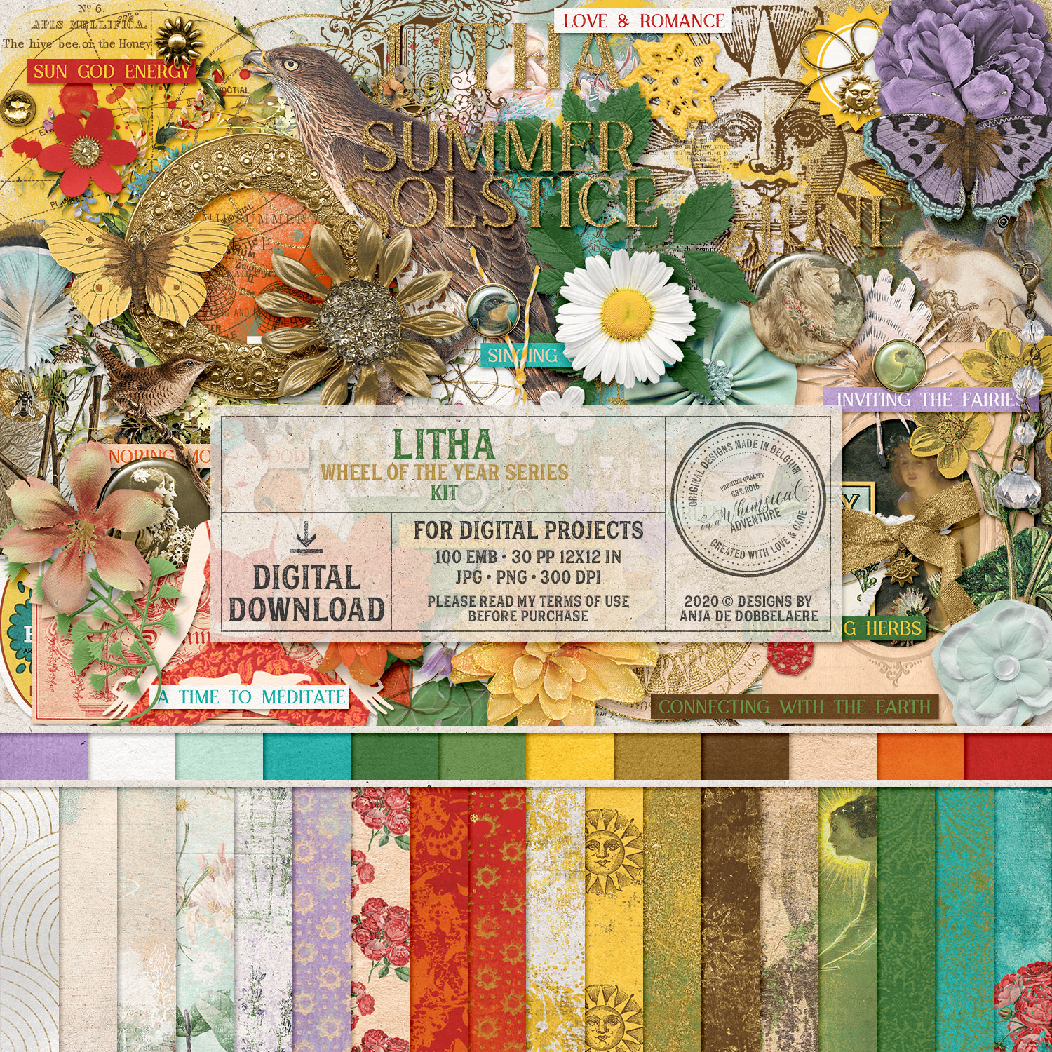 Wheel Of The Year Litha Kit by On A Whimsical Adventure
