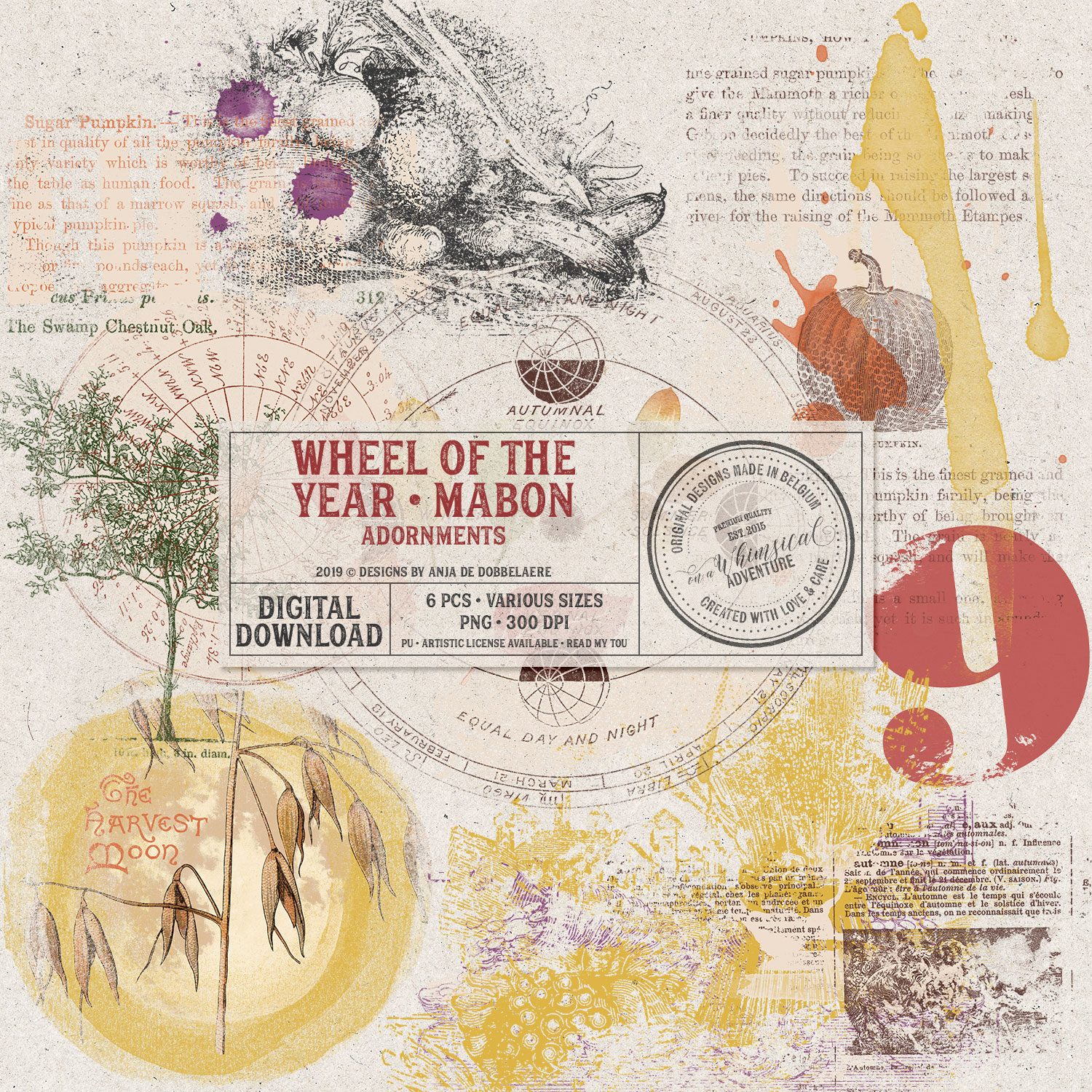 Wheel Of The Year Mabon Adornments by On A Whimsical Adventure