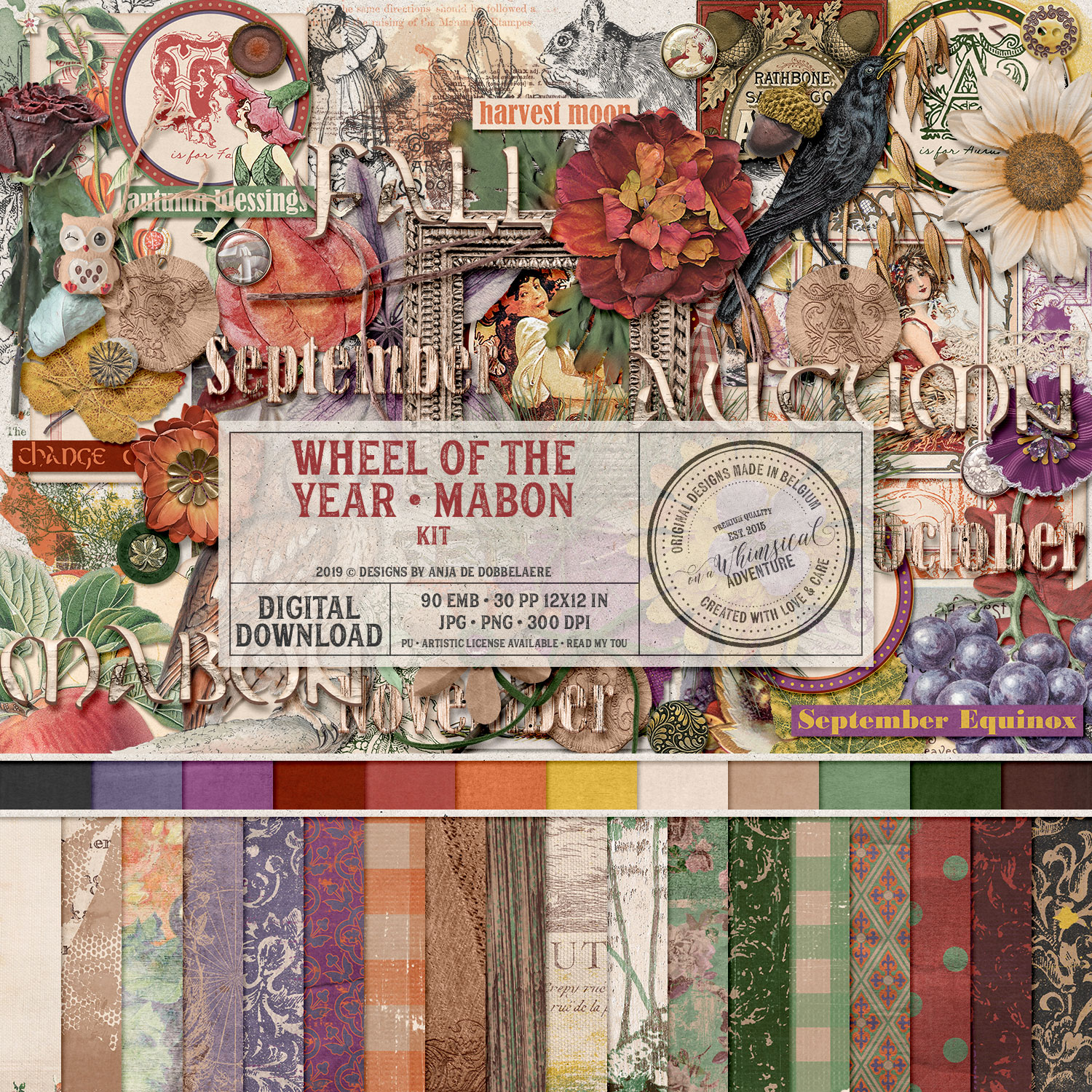 Wheel Of The Year Mabon Kit by On A Whimsical Adventure