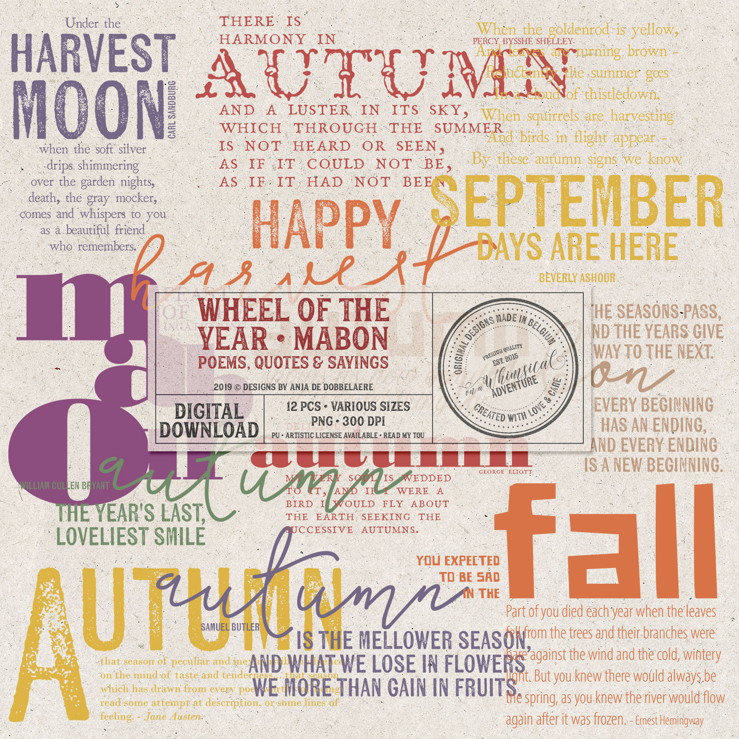 Wheel Of The Year Mabon Poems by On A Whimsical Adventure