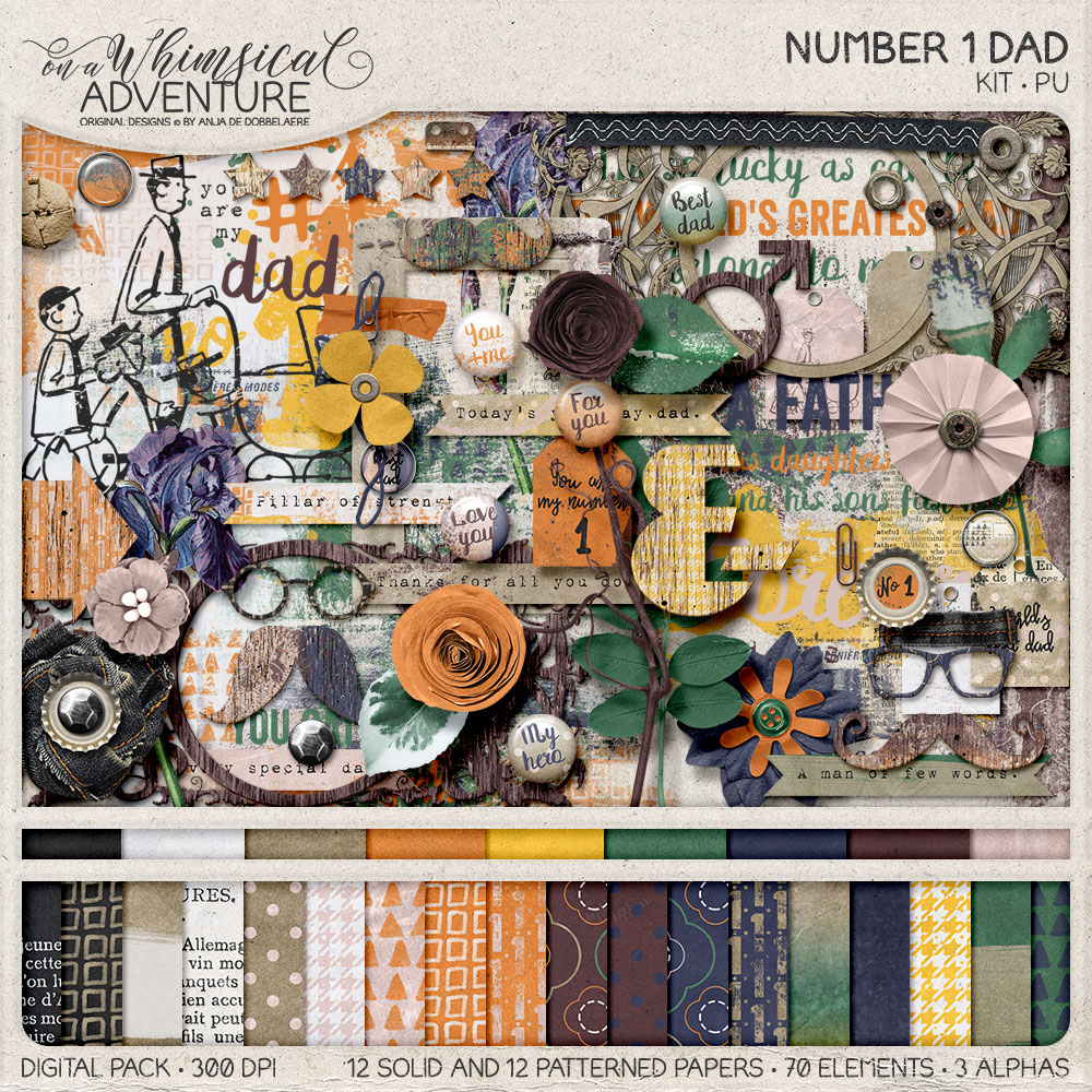 Number 1 Dad Bundle by On A Whimsical Adventure