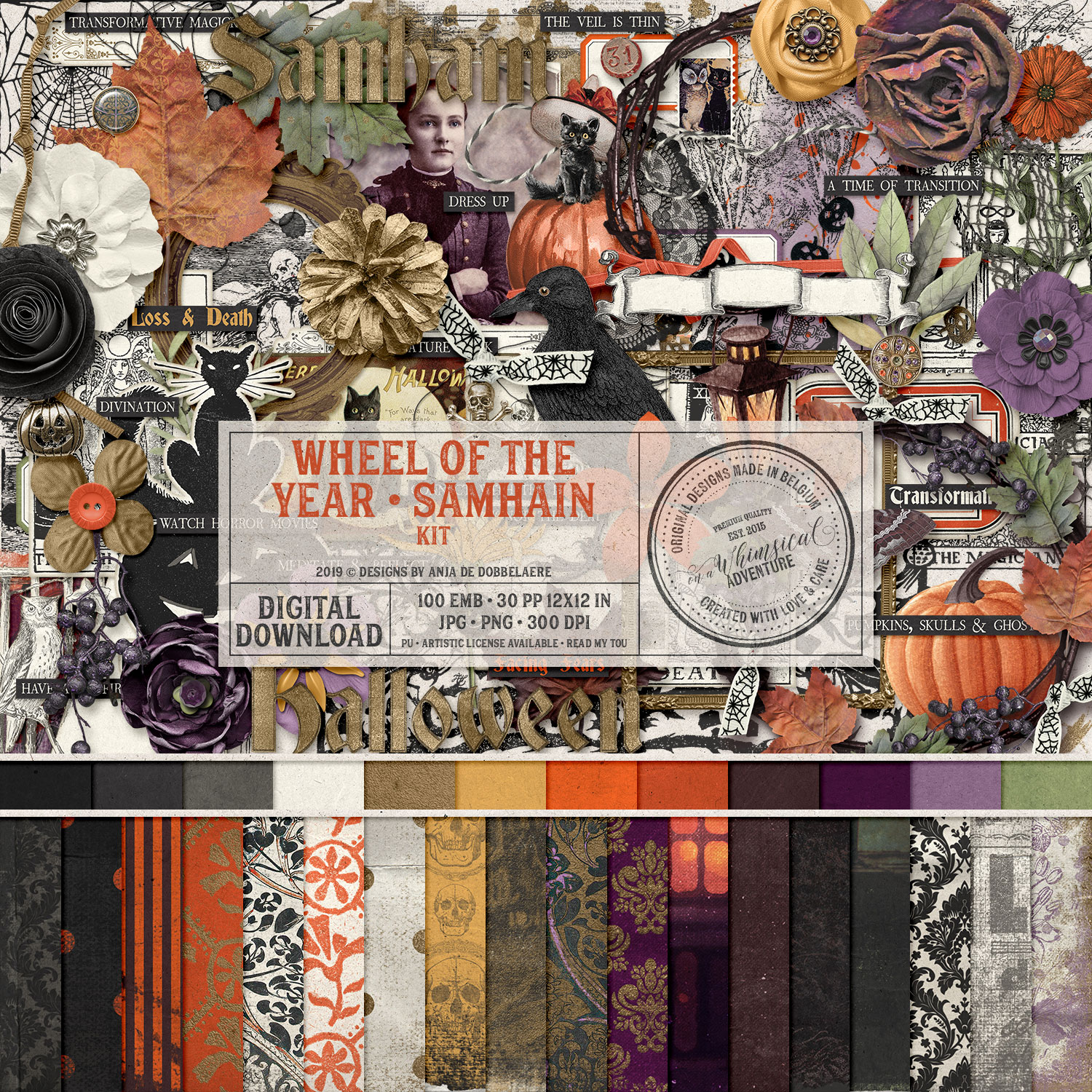 Wheel Of The Year Samhain Kit by On A Whimsical Adventure
