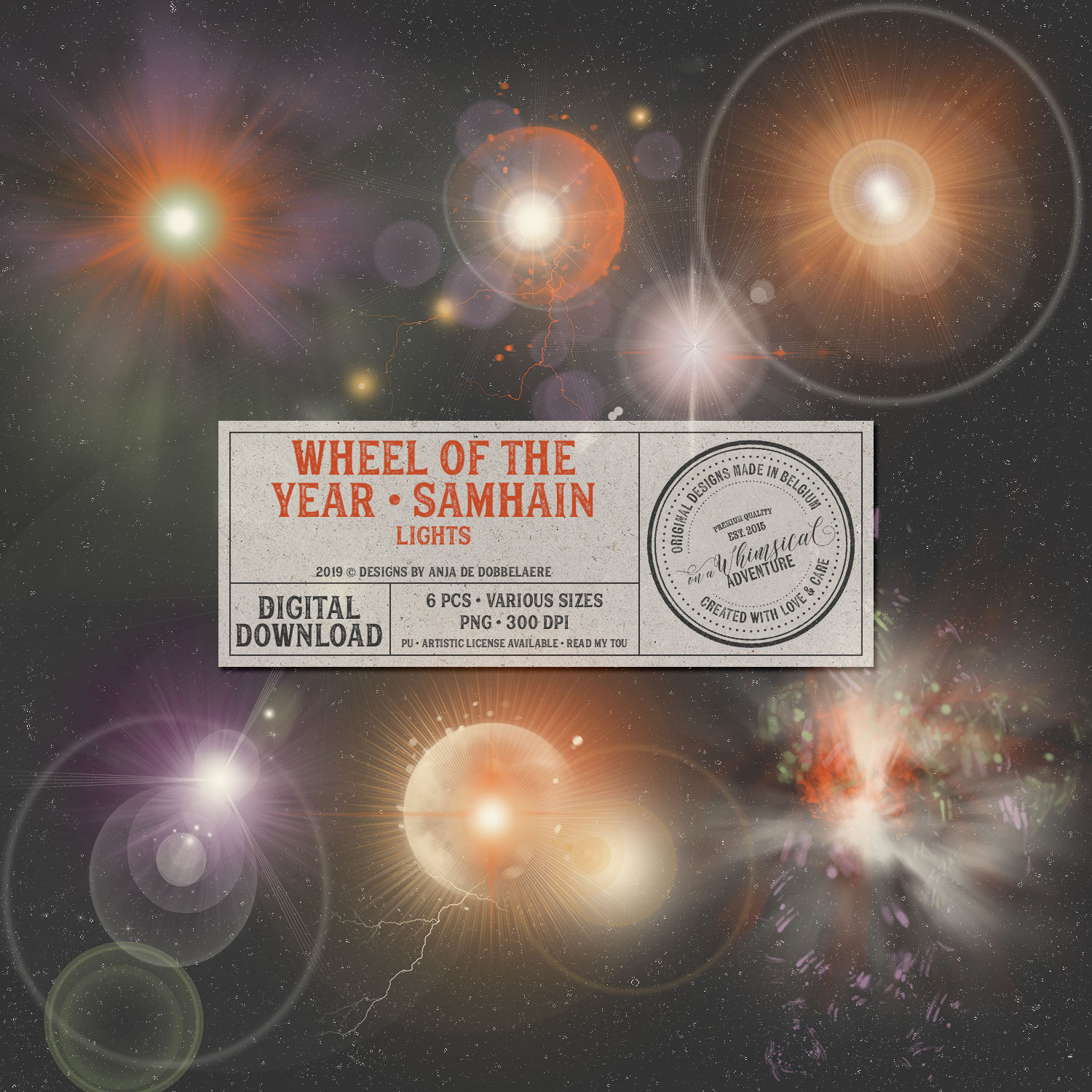 Wheel Of The Year Samhain Lights by On A Whimsical Adventure