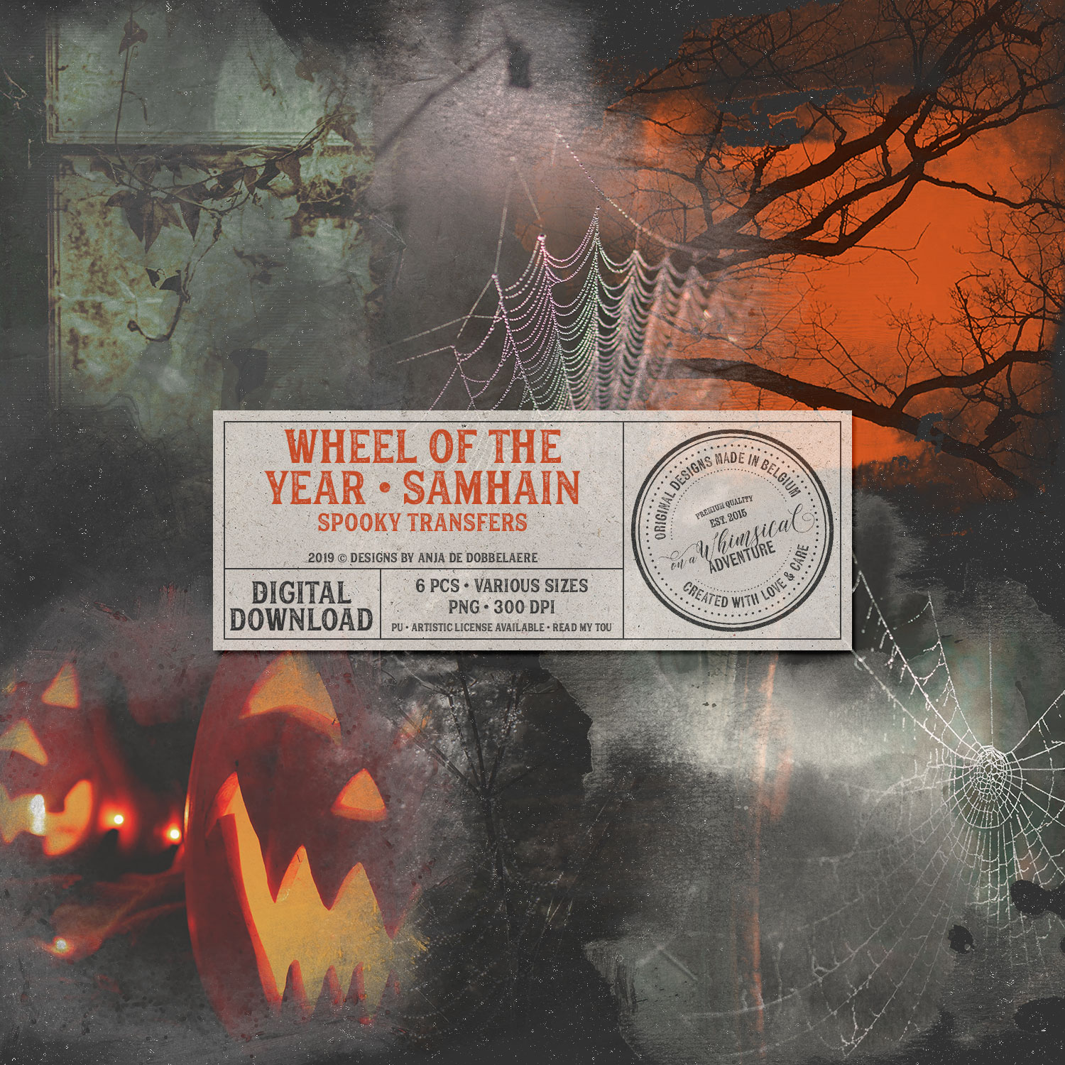 Wheel Of The Year Samhain Spooky Transfers by On A Whimsical Adventure