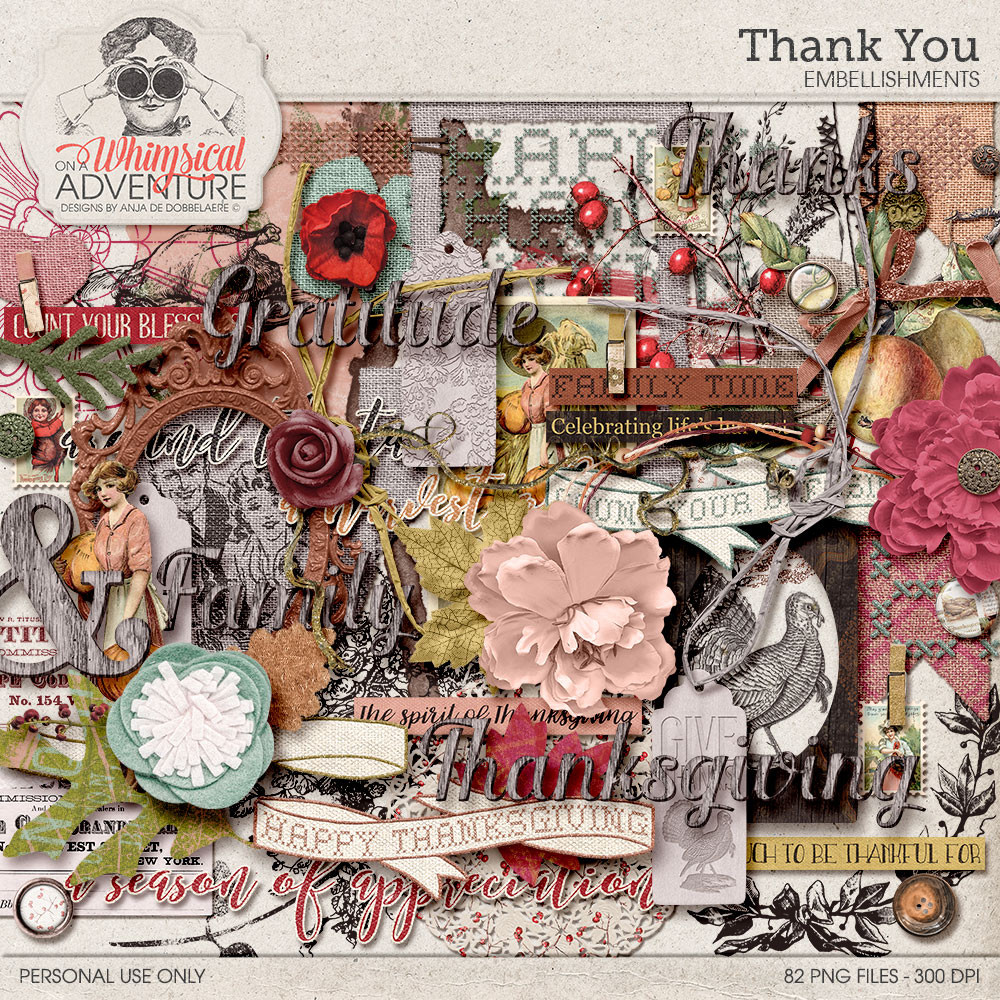 Thank You Elements by On A Whimsical Adventure