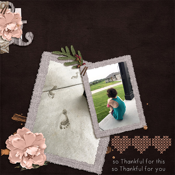 Digital layout using Thank You Bundle by On A Whimsical Adventure