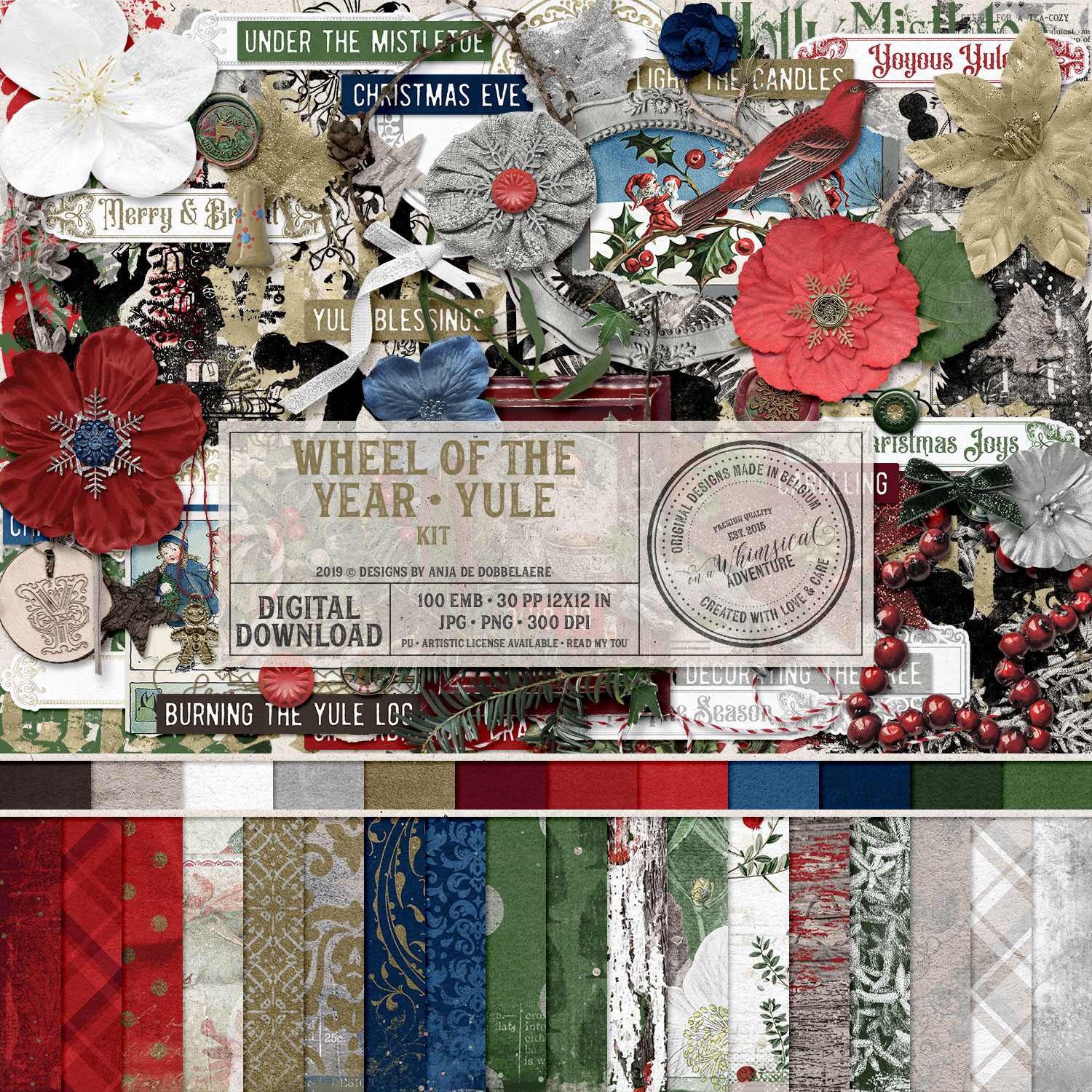 Wheel Of The Year / Yule Kit by On A Whimsical Adventure