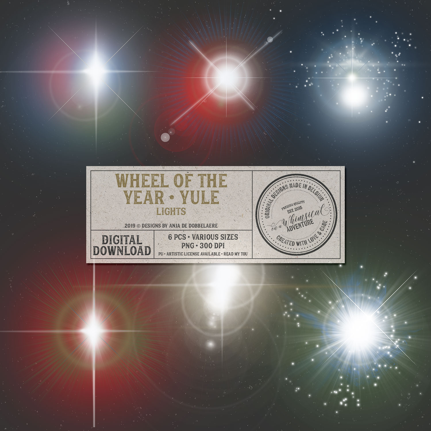Wheel Of The Year / Yule Lights by On A Whimsical Adventure