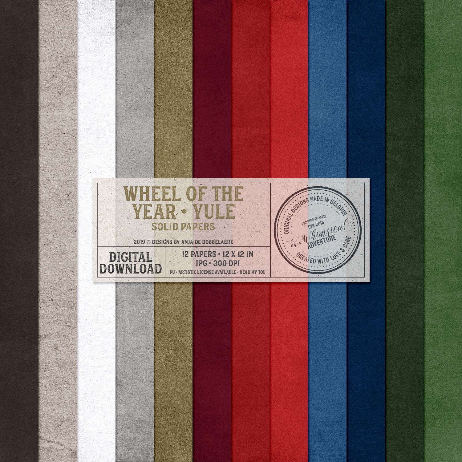 Wheel Of The Year / Yule Solid Papers by On A Whimsical Adventure