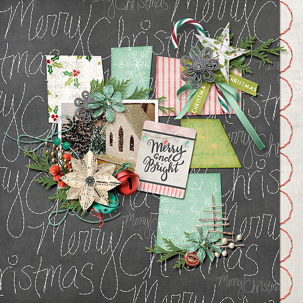 Christmas Memories by Snickerdoodle Designs; Layout by Jenni