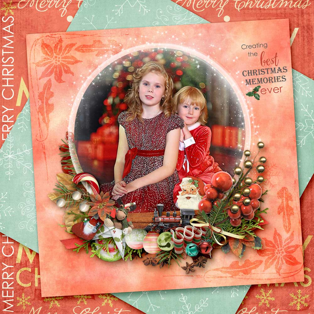 Christmas Memories by Snickerdoodle Designs; Layout by Zanthia