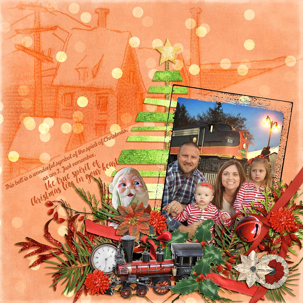 Christmas Memories by Snickerdoodle Designs; Layout by Linda