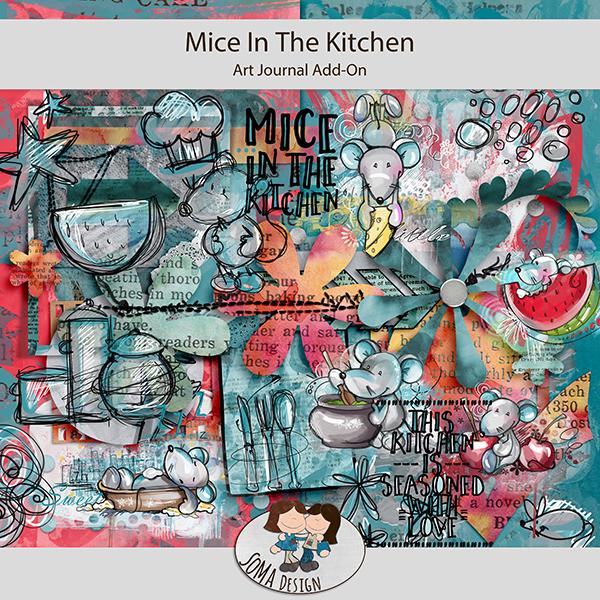 Oscraps.com Digital Scrapbook Store   Scrapbooking   Art :: All New :: SoMa  Design: Mice In The Kitchen   ArtJournal Add On