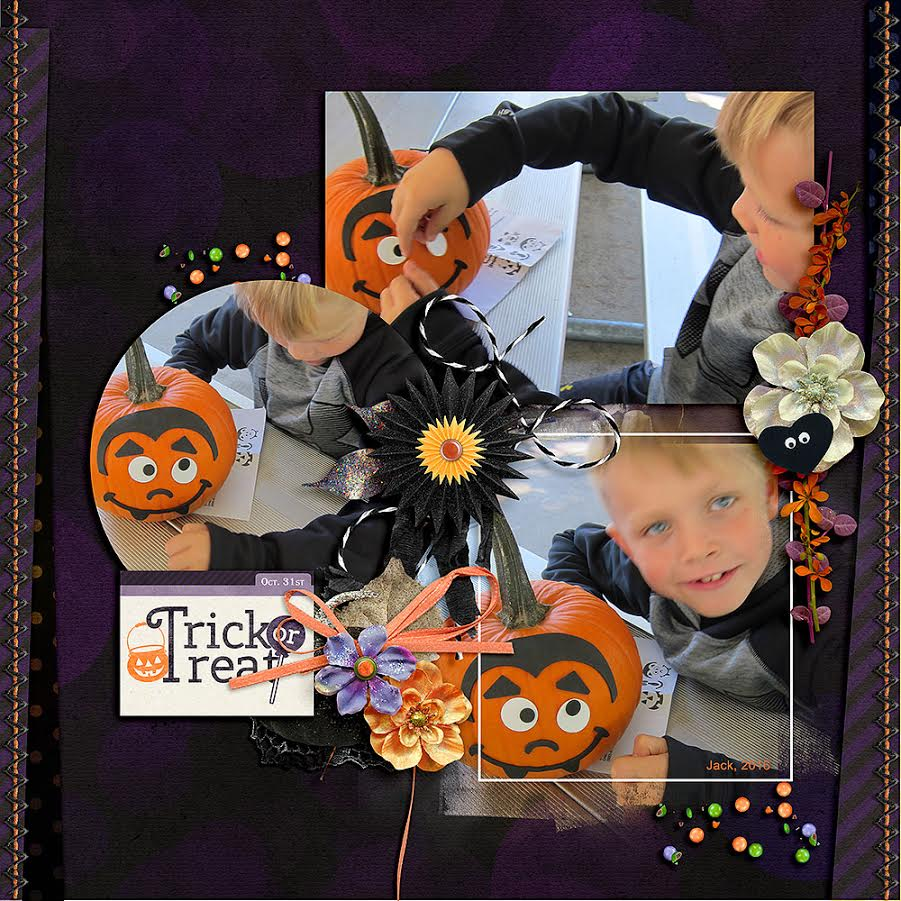 Trick or Treat Layout by Beatrice