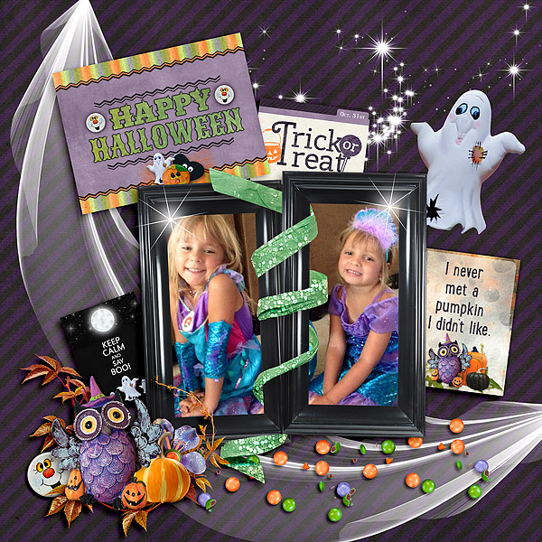 Trick or Treat Layout by  Kay