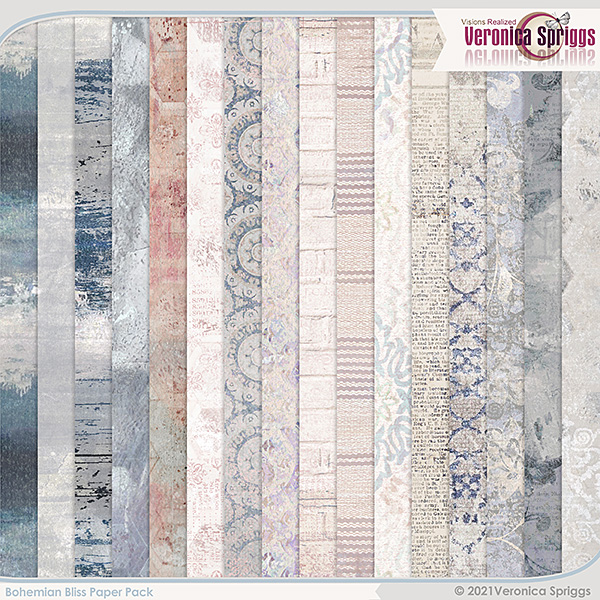 Bohemian Bliss by Veronica Spriggs Kit Papers