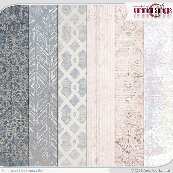 Bohemian Bliss by Veronica Spriggs Papers Mini