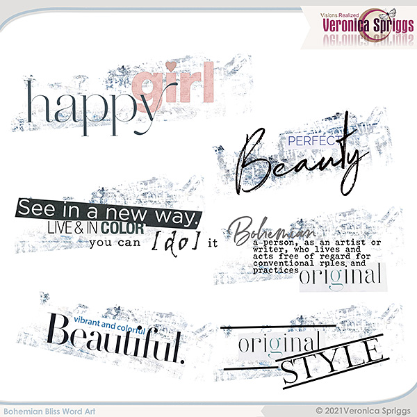 Bohemian Bliss by Veronica Spriggs Word Art