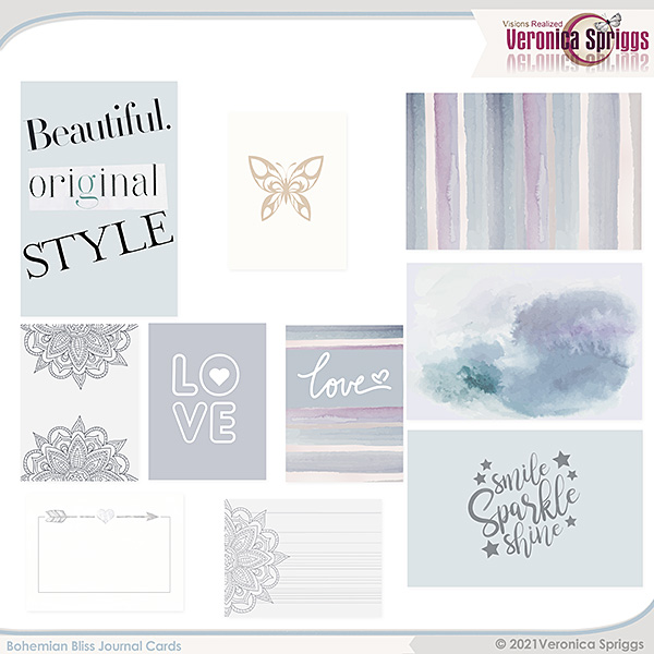 Bohemian Bliss by Veronica Spriggs Journal Cards