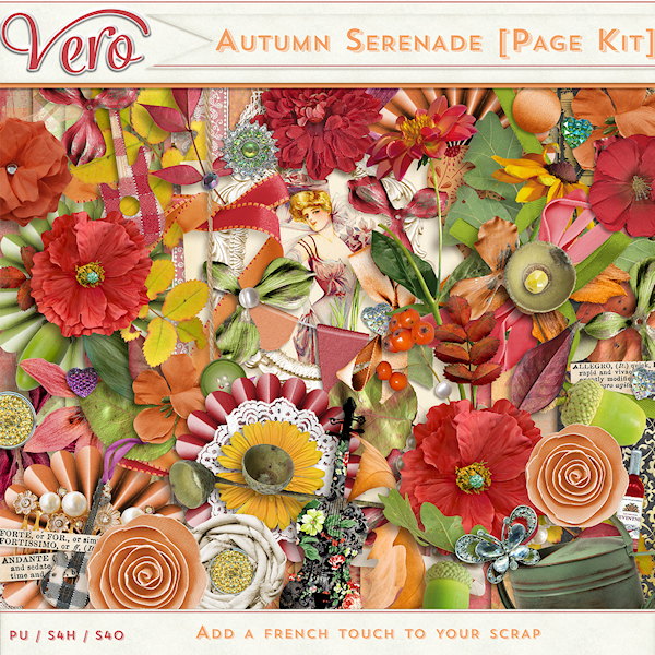 Autumn Serenade Page Kit Elements by Vero