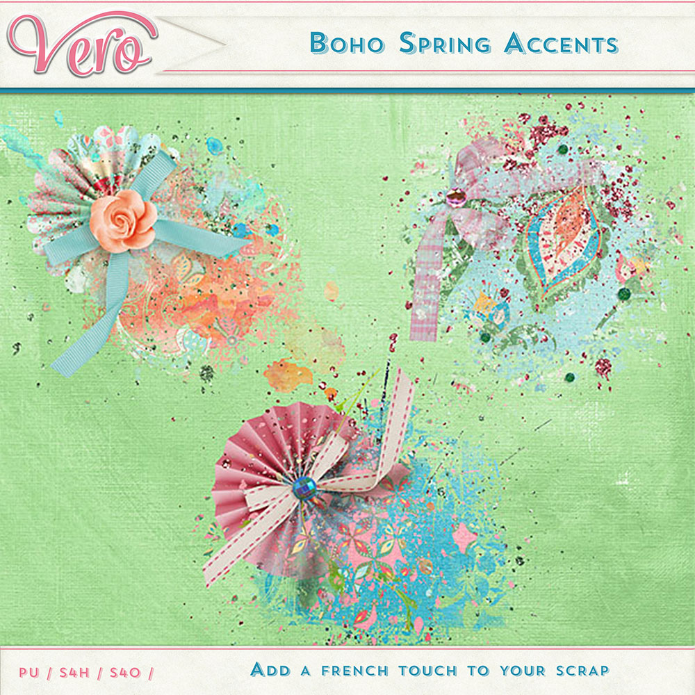 Boho Spring Accent Stamps by Vero