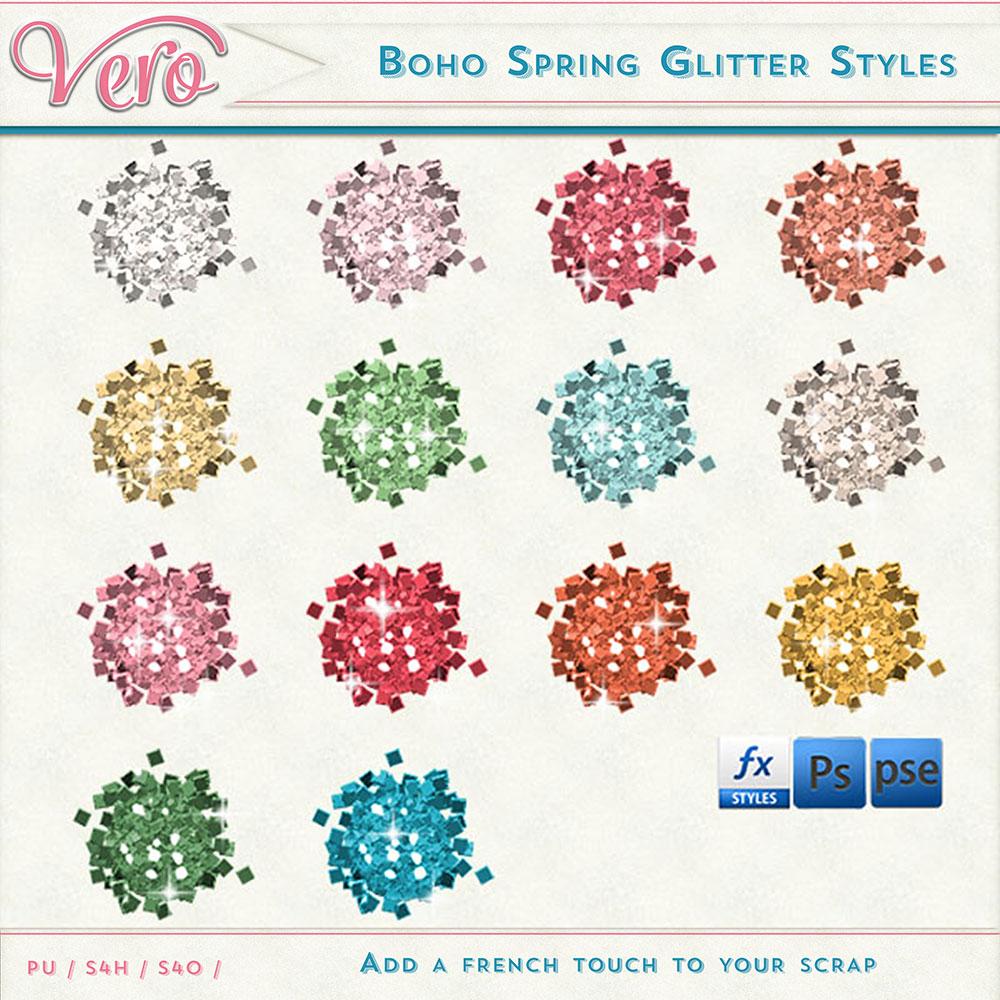 Boho Spring Glitter Styles by Vero