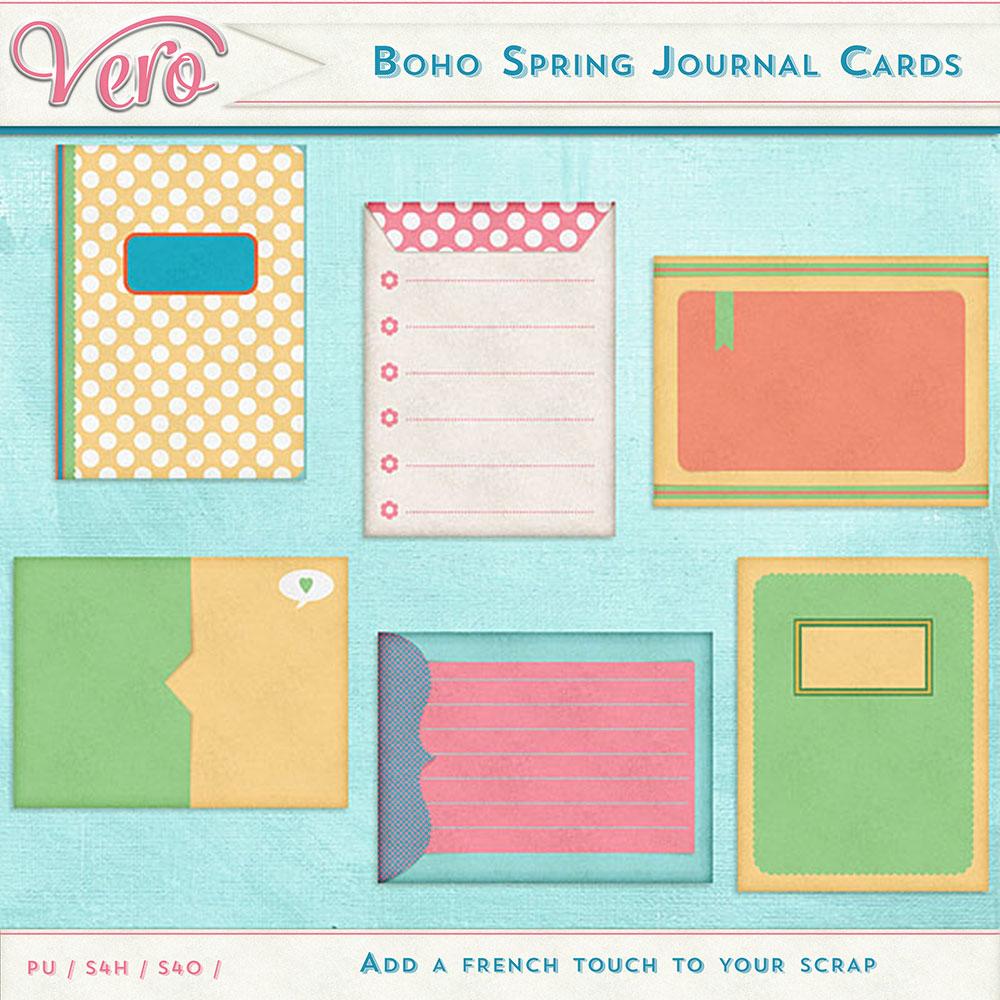 Boho Spring Journal Cards by Vero