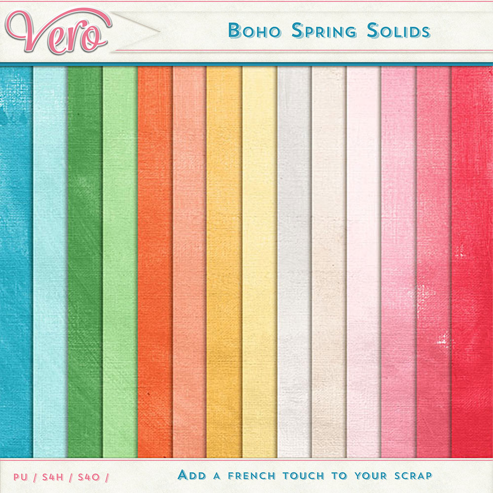Boho Spring Solid Papers by Vero