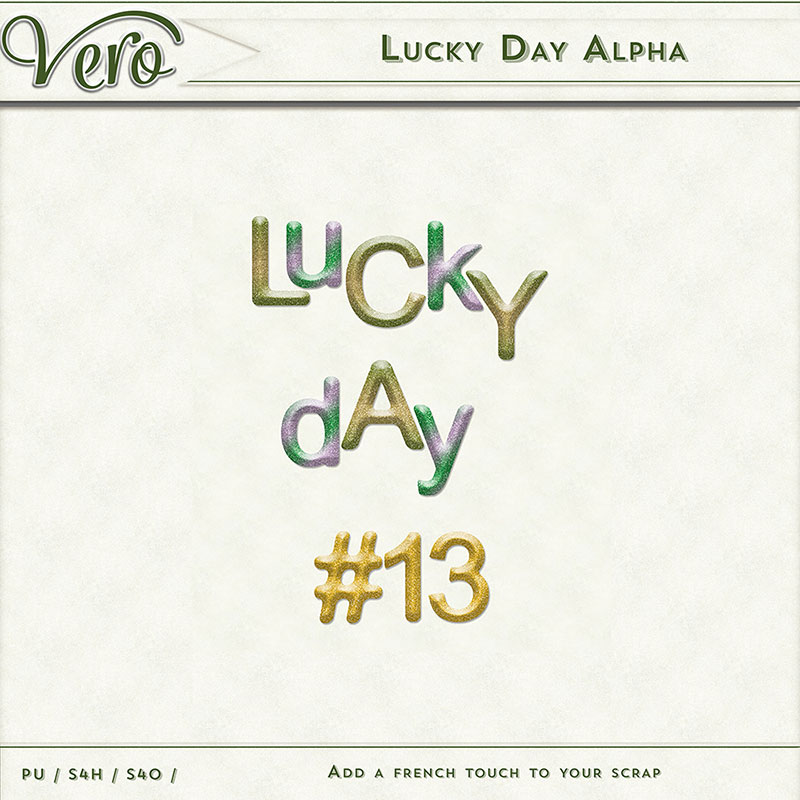 Lucky Day Digital Scrapbook Alpha by Vero