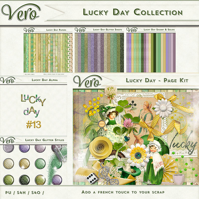Lucky Day Digital Scrapbook Collection by Vero