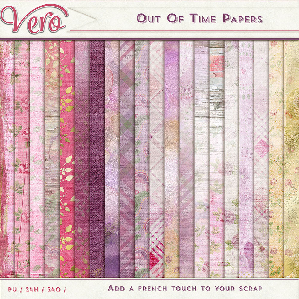 Out of Time Page Kit Papers by Vero