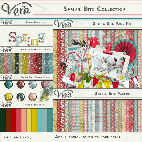 Spring Bits Digital Scrapbook Collection