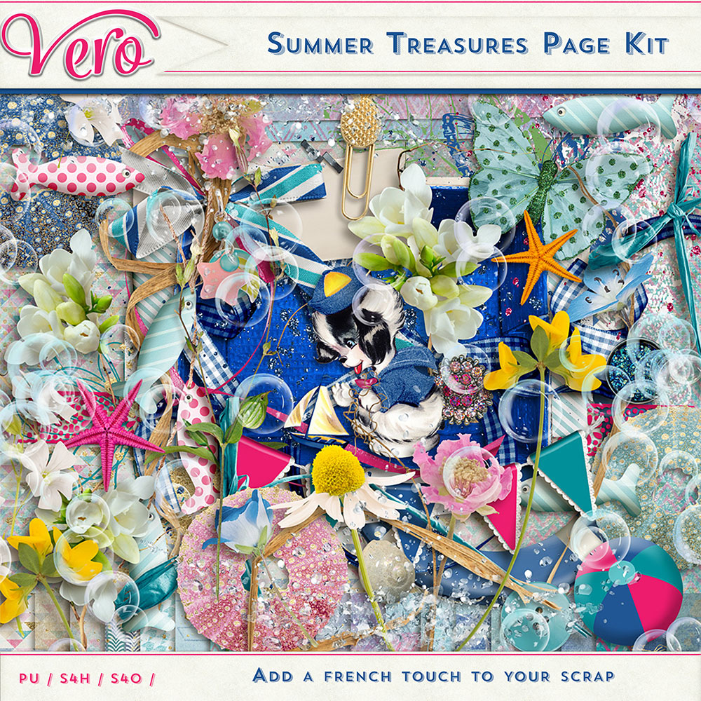 Summer Treasures Page Kit by Vero