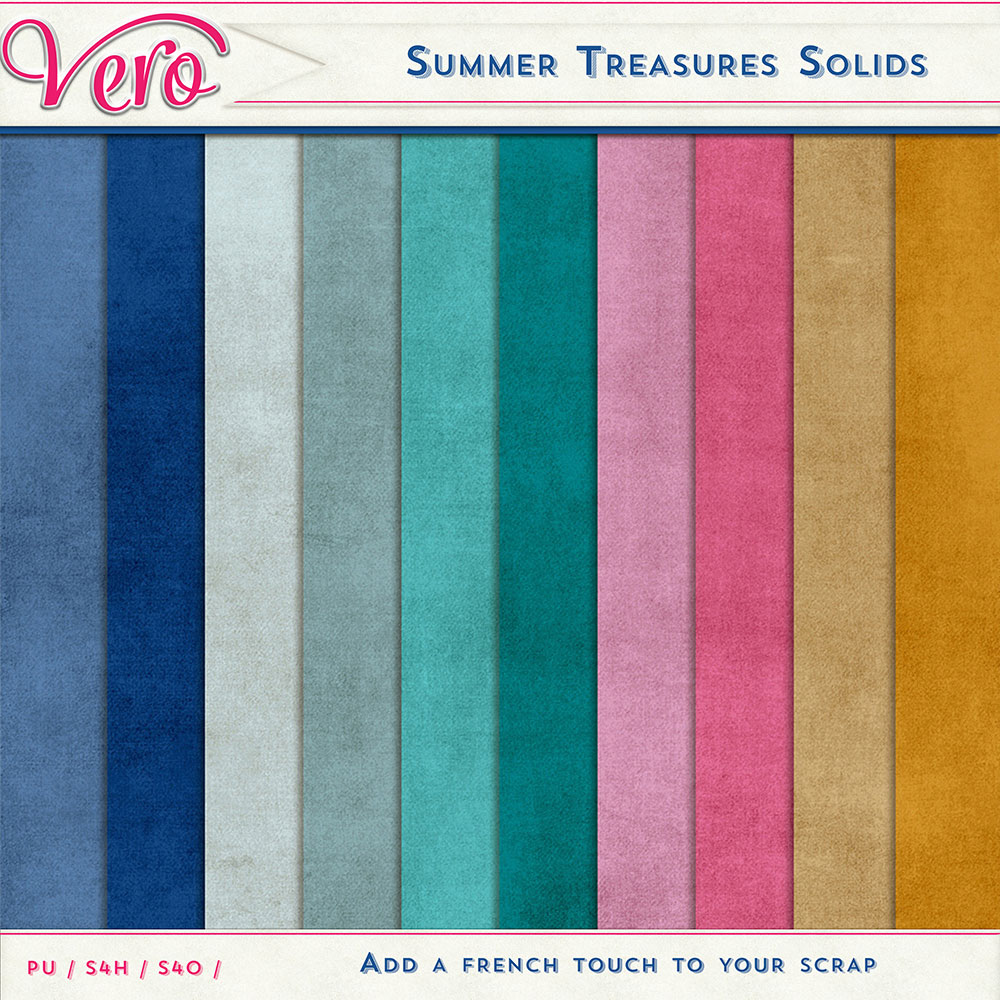 Summer Treasures Solid Papers by Vero