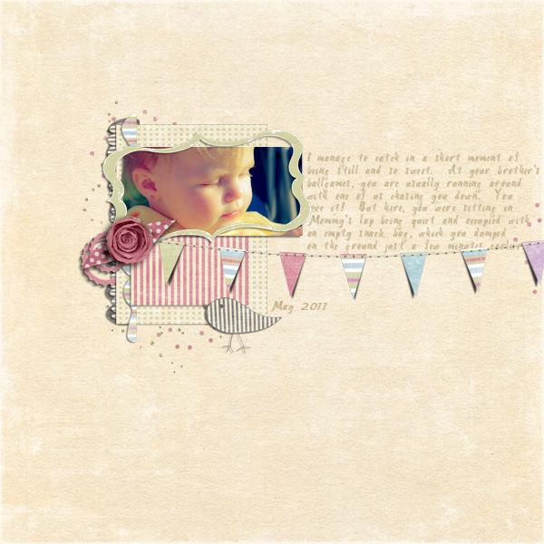 Whimsy layout by Nana Linda