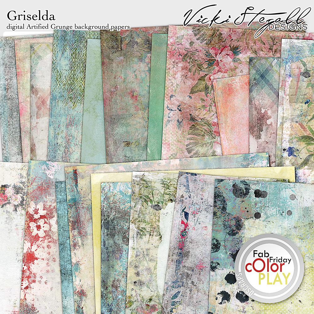 Griselda Digital Scrapbooking Artified Grunge by Vicki Stegall @ Oscraps.com