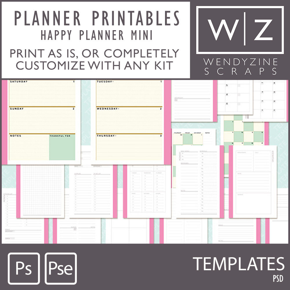 It's just an image of Effortless Mini Happy Planner Template