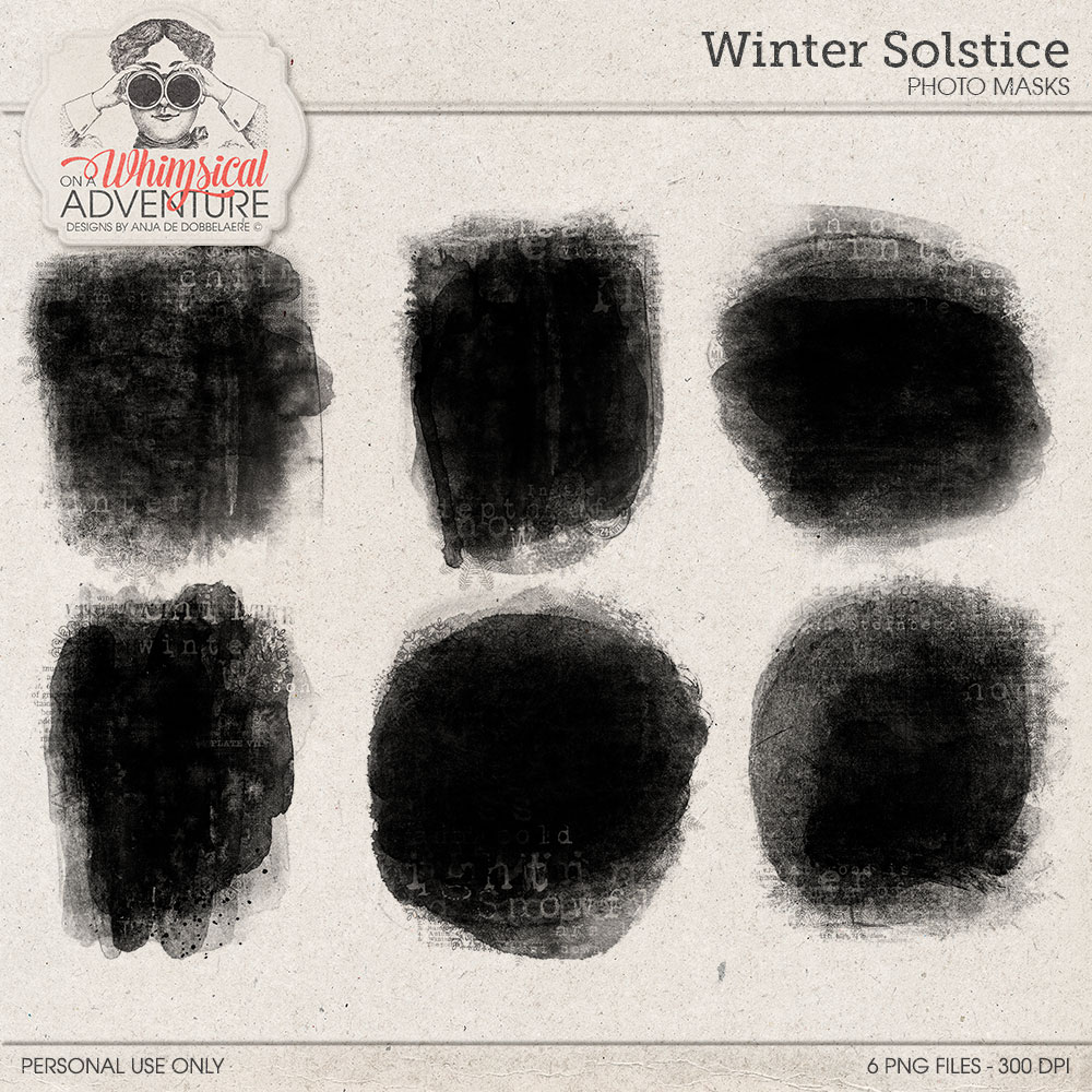 Winter Solstice Photo Masks by On A Whimsical Adventure