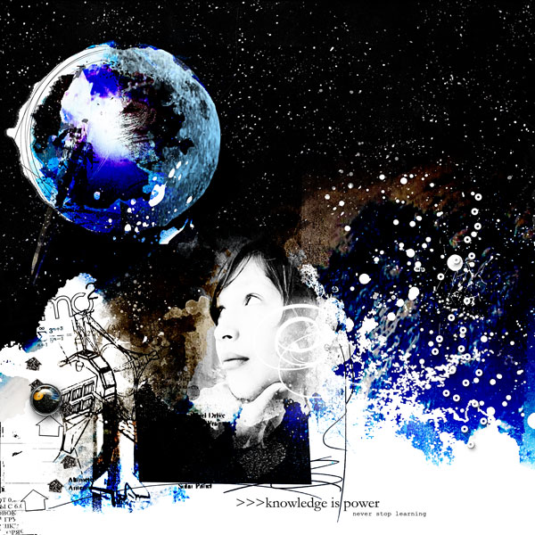 Digital scrapbook store scrapbooking art for Outer space stage design