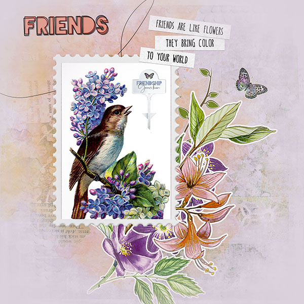 Friendship Garden by Vicki Robinson sample page 3 by Diane