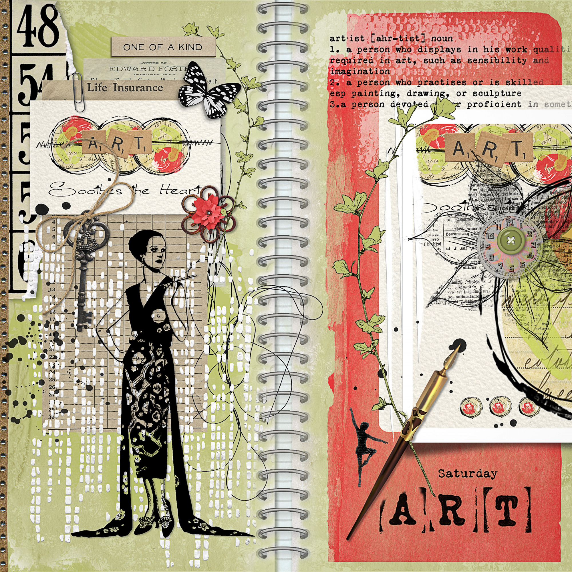 Junque Journal 03 Sample Layout 02
