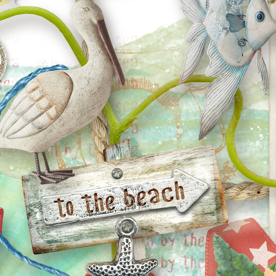 Beach Day Kit Detail by Snickerdoodle Designs
