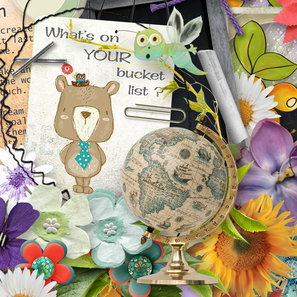 Bucket List detail by Snickerdoodle Designs