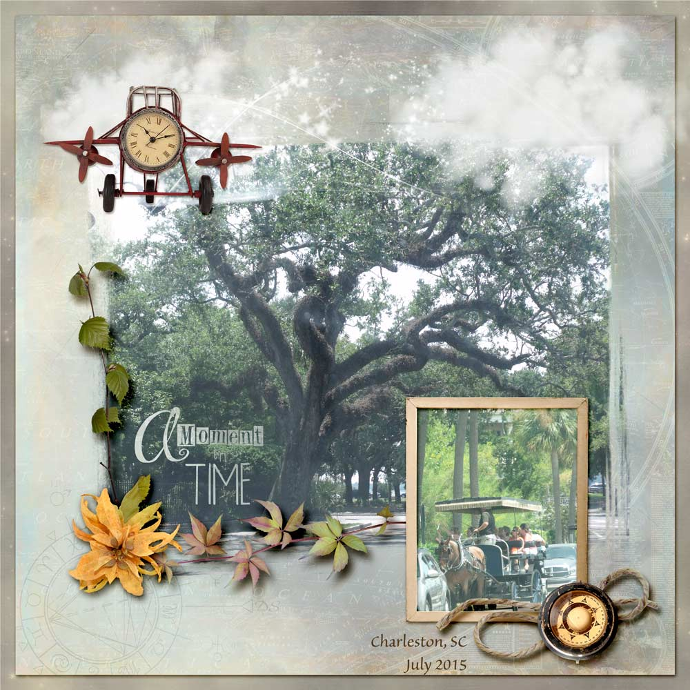 Chart Your Course Layout (Kit by Snickerdoodle Designs