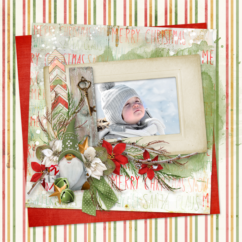 Layout using Sweet Christmas, a collaboration between Snickerdoodle Designs and Linda Cumberland