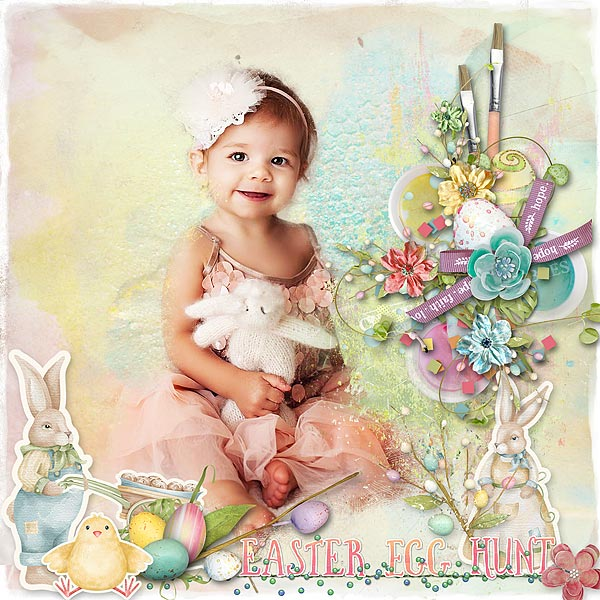Digital Scrapbook Page created using Spirit of Spring by Snickerdoodle Designs