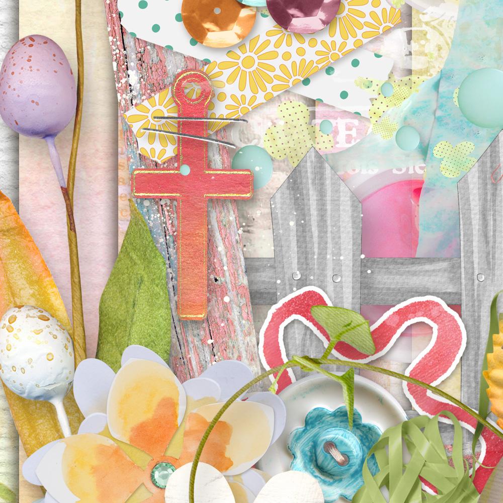 Spirit of Spring Digital Scrapbook Kit Detail by Snickerdoodle Designs